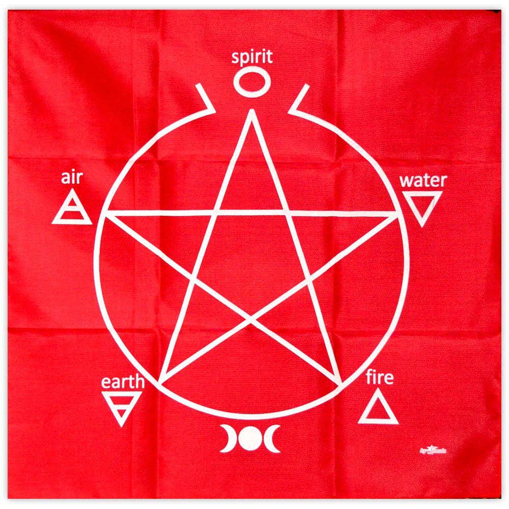 Toalha para Altar e Tarô - Vermelha