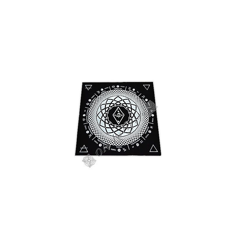 Toalha para Altar em Veludo - Mandala Astrológica