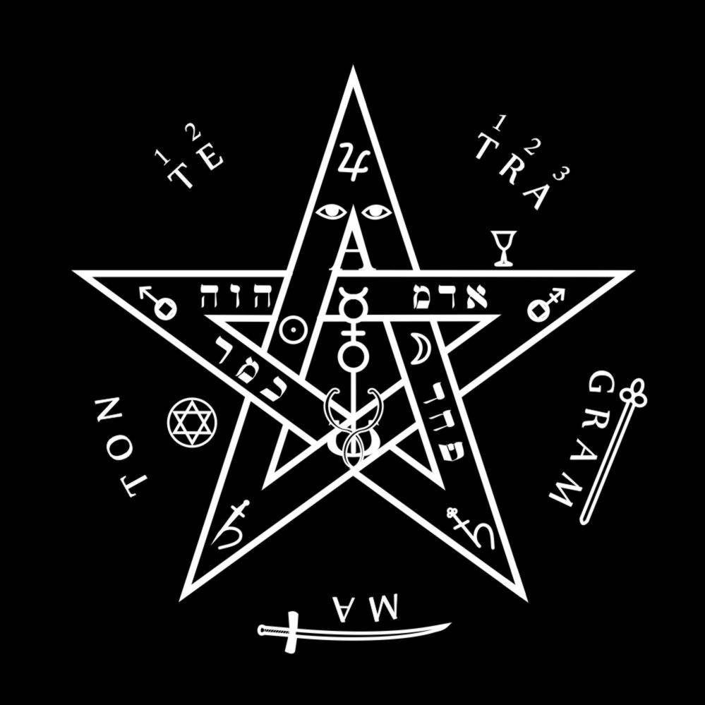 Toalha Tetragramaton - Preta
