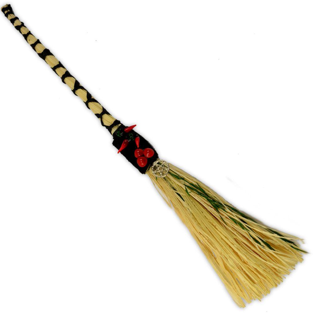 Vassoura - Palha com bambu Pimenta