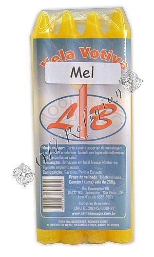 Vela Palito - Mel (pacte c/ 8)