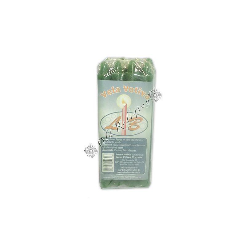 Vela Palito - Verde (pacte c/ 8)