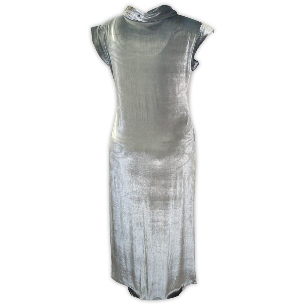 Vestido veludo sem manga - cinza