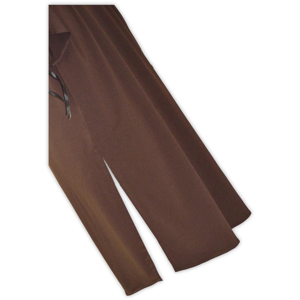 Vestido malha manga comprida - marrom