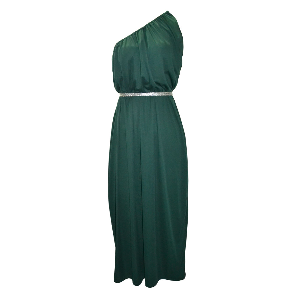 Vestido malha um ombro só - verde