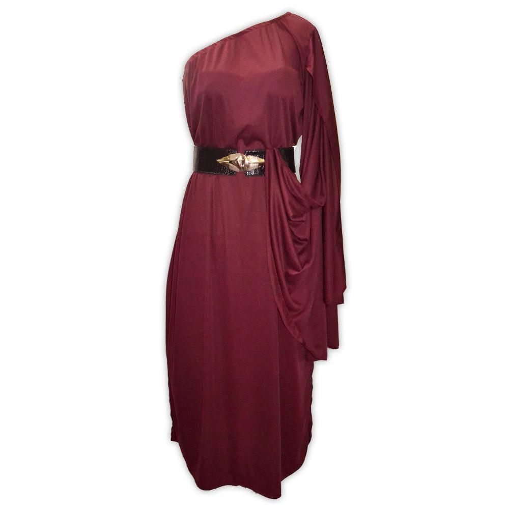 Vestido malha valquiria - vinho
