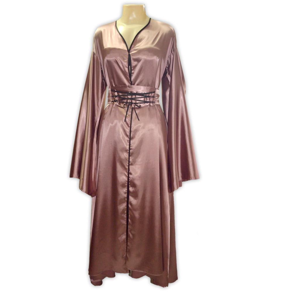 Vestido cetim pitonisia - lilás