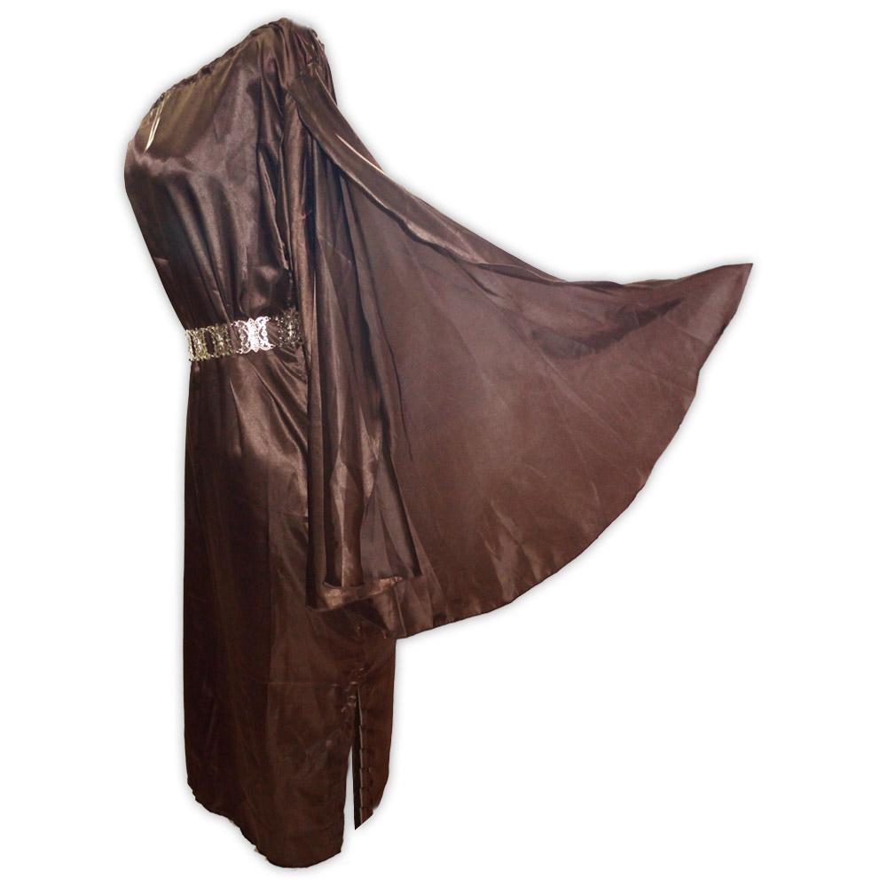 Vestido cetim valquiria - marrom