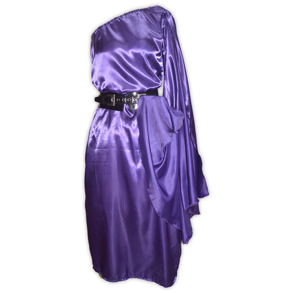 Vestido cetim valquiria - roxo