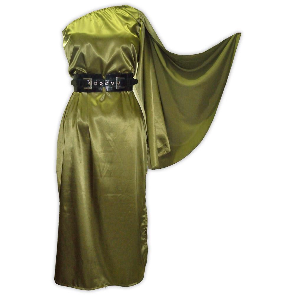 Vestido cetim valquiria - verde