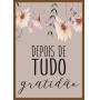 CONJUNTO DE QUADROS DECORATIVOS FÉ E GRATIDÃO