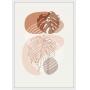 Quadro Decorativo Sem Vidro Abstrato Floral Minimalista