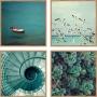 Quadros Decorativos Abstratos Linha Color - ESMERALDA