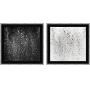 Conjunto de Quadros Decorativos Abstratos com Moldura em Estilo Preto e Branco - P&B