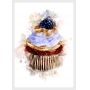 QUADRO DECORATIVO BLACKBERRY CUPCAKE