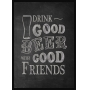 QUADRO DECORATIVO SEM VIDRO PARA BAR DRINK GOOD