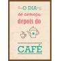 QUADRO DECORATIVO SEM VIDRO PARA COZINHA - CAFÉ
