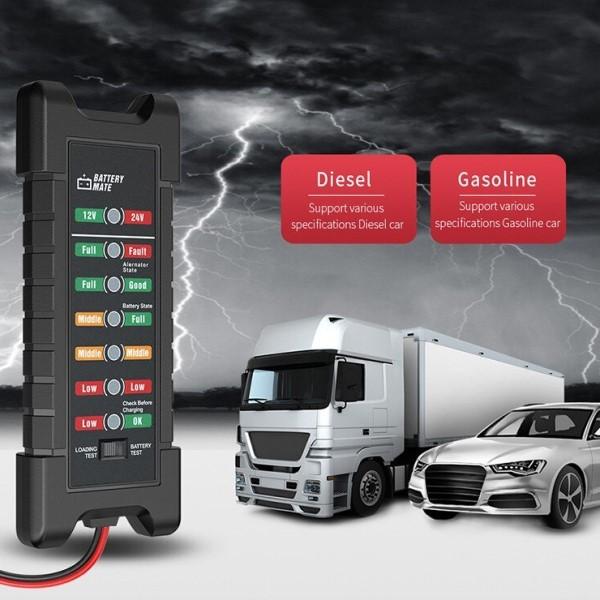 Analisador de Bateria Digital Automotivo Profissional 6 a 24v Carros Motocicletas Caminhões Leves Estacionárias e Emergências (BTO)