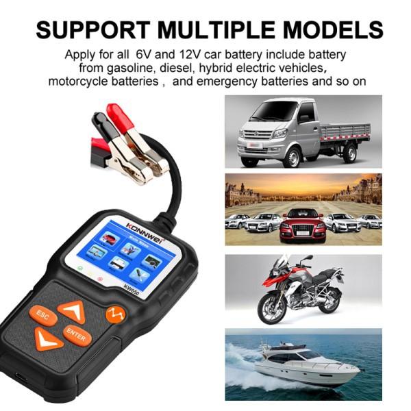 Analisador de Bateria Automotivo Profissional Configuração Português Carros Motocicletas Caminhões Leves Bateria de Emergência Estacionária