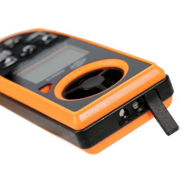 Anemômetro Digital Portátil Multifuncional Medidor Velocidade do Vento Temperatura Umidade Vento Frio Barômetro Altímetro Luxímetro (BTO)