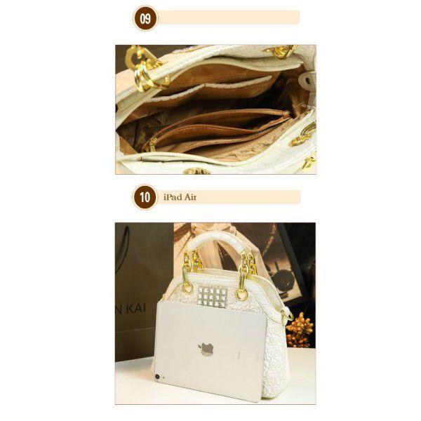 Bolsa de Ombro e Mão Strass Moda Feminina Versátil Estilo Casual Fashion Preta (QBA)