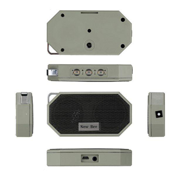 Caixa De Som Bluetooth 4.0 Mini Portátil Ip66 À Prova D'água