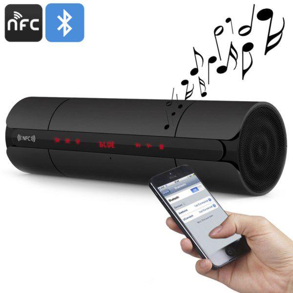Caixa De Som Bluetooth Nfc 3d Sup Cartão Micro Sd Até 32gb MP3 WMA Radio FM Atende e Faz Chamadas Via Smartphone