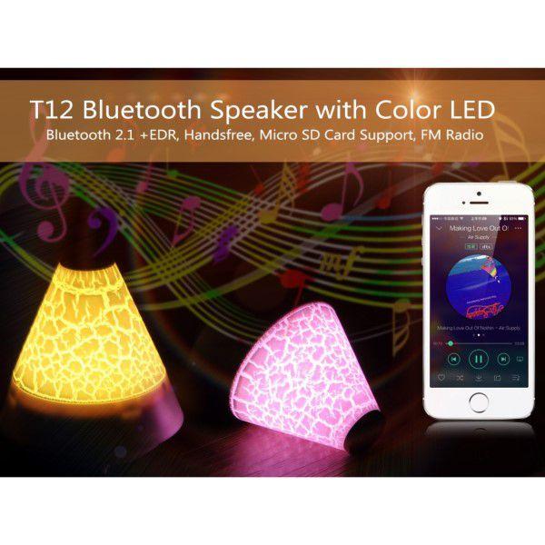 Caixa De Som Bluetooth Portátil Led Micro Sd Até 32gb Rádio Fm Bluetooth 2.1+ EDR Atende e Faz Chamadas Via Smartphone