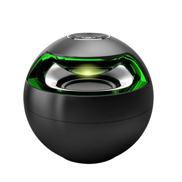 Caixa De Som Bluetooth Portátil Magic Black Ball Som Estéreo, Luzes LED, Bluetooth 2.1 + EDR, Atende e faz Chamadas Em Smartphone