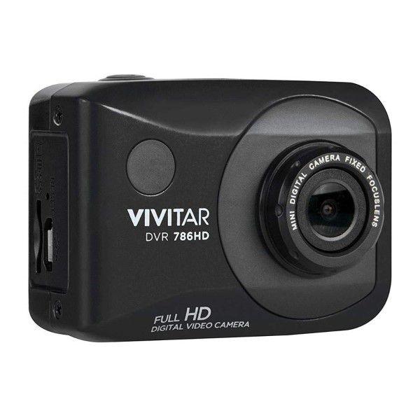 Câmera de Ação e Aventura Digital FULL-HD 1080p 4x Zoom 12.1MP Sup Micro SD Até 32GB Controle Remoto Visor LCD