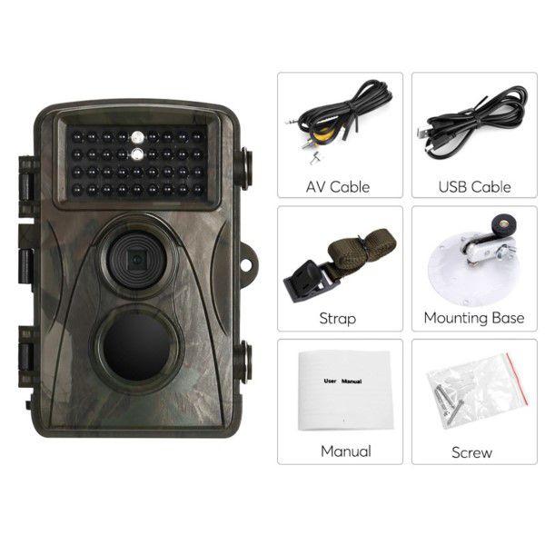 Câmera de Trilha Digital Full-HD 1080p 12MP Visão Noturna 20M Até 8 Meses de Espera SD Até 32GB (BTO)