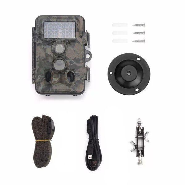 Câmera de Trilha FULL-HD 1080p 12MP, Lente Grande Angular, IR Visão Noturna, IP66, Sup Micro SD Até 32GB (BTO)