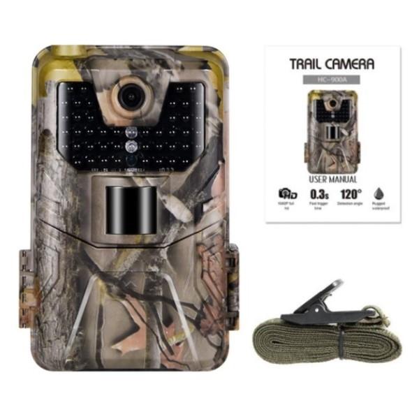 Câmera de Trilha Visão Noturna Full HD 1080p 20MP Foto e Vídeo Vigilância Segurança Interior e Exterior Vida Selvagem Comércio Propriedade