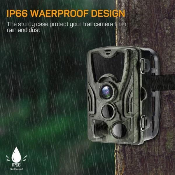 Câmera de Trilha Visão Noturna Wifi Full HD 1080p 24MP Foto e Vídeo Vigilância Segurança Interior Exterior Vida Selvagem Caça Campo Cidade