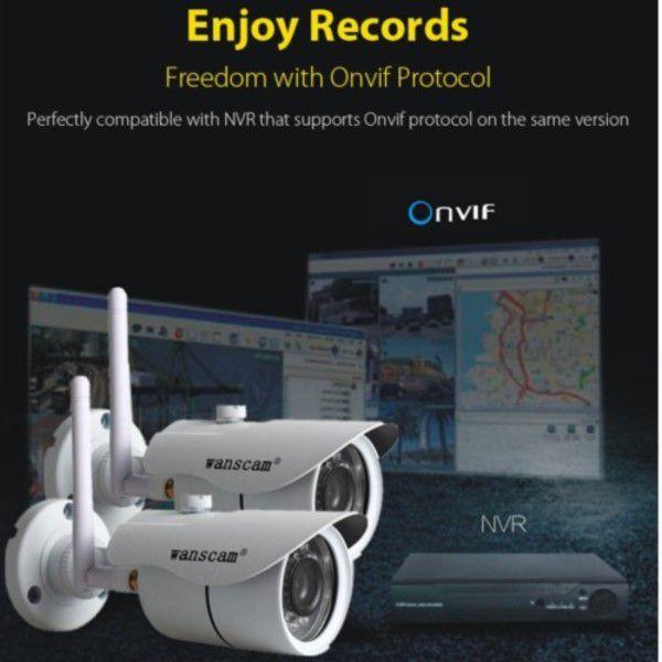 Câmera Ip Wanscam Hw0043 Wifi Visão Noturna Ir Onvif E App