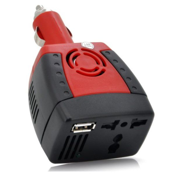 Carregador Veicular Universal Inversor e Adaptador de Energia 150W Transforma Energia do Carro de DC 12V Para AC 220V - 240V + Porta USB 5V