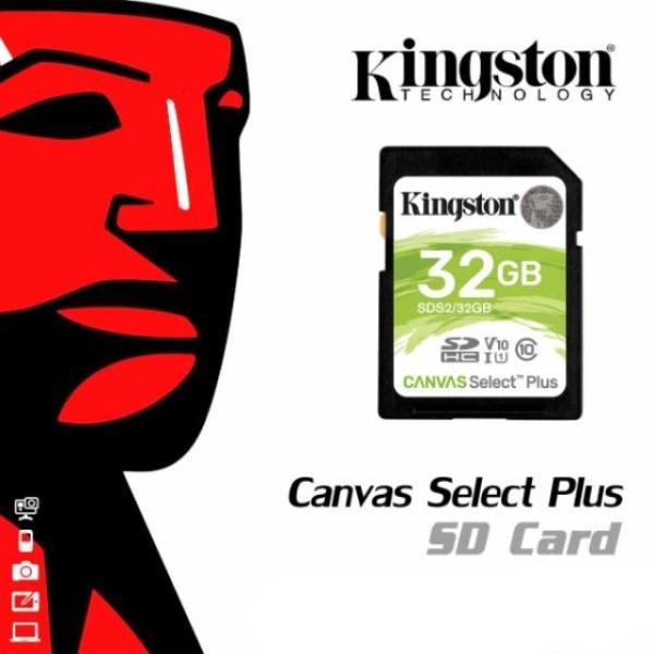 Cartão de Memória SD/SDS2 Kingston Canvas Select Plus 32GB Classe 10 FULL-HD e 4K UHD Alta Qualidade Velocidade 100MB/s