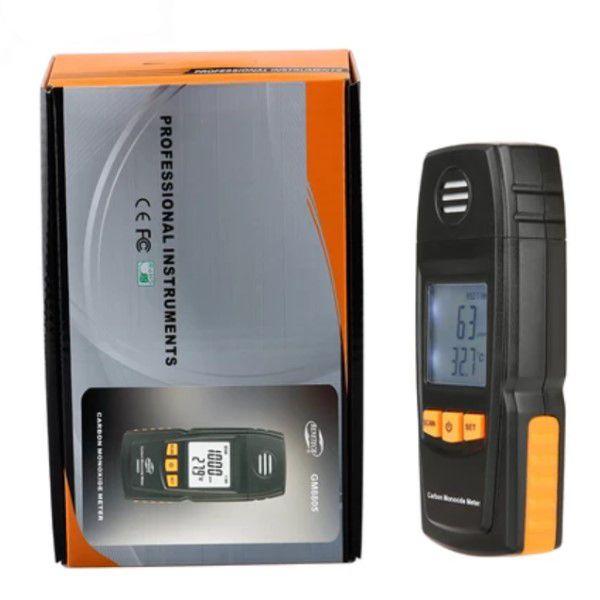 Detector de Monóxido de Carbono (CO) Profissional de Precisão Sensor Eletroquímico Faixa de Medição 0 a 1000ppm Alarme de Som e Luz (BTO)