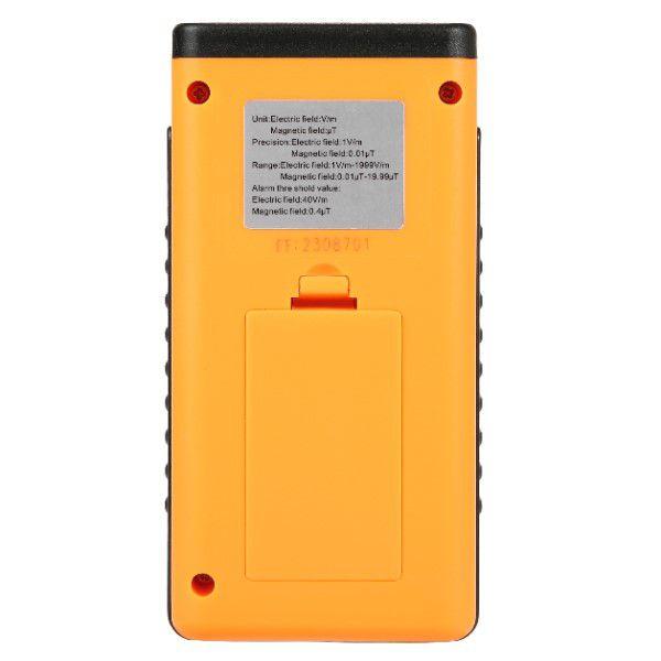Detector de Radiação Profissional de Precisão Portátil Frequência Eletromagnética Display Digital LCD Alcance Elétrico 1 a 1999V/m (BTO)