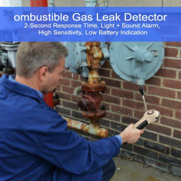 Detector de Vazamento de Gás Combustível Profissional Alta Sensibilidade Adequado Para Ambientes Residenciais Industriais e Comerciais (BTO)