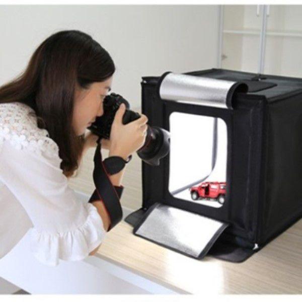 Mini Estúdio Fotográfico Iluminação Profissional Dobrável 2x Pçs de 32 Leds Cada Tire Fotos Com Grande Qualidade