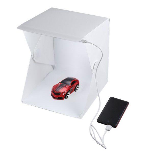 Mini Estúdio Fotográfico Profissional Portátil Para Smartphone Dobrável 20x Leds Tire Fotos Com Grande Qualidade