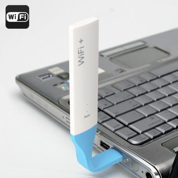 Extensor de Alcance Wi-Fi USB Flexível Resistente 2.4GHz Portátil Até 150Mbps LED Indicação Alta Frequência