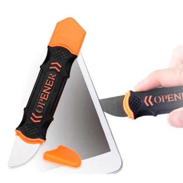 Ferramenta Profissional Multifuncional Flexível Aço Inoxidável Para Abertura de Celulares Áudio e Vídeo e Outros Dispositivos