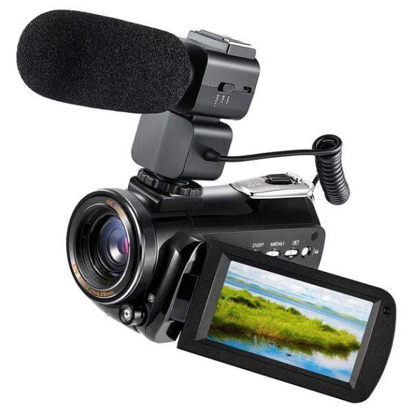 Filmadora Digital Ordro HDR-AC3 4K Wi-Fi Visão Noturna 30x Zoom 24MP Com Microfone Externo Touch Screen Selfie Anti Vibração Sup APP (BTO)