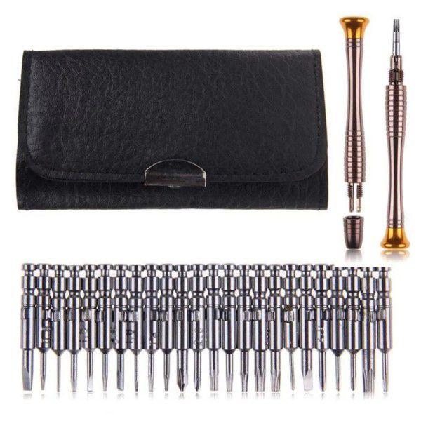 Kit Chave de Fenda 25Pçs Multifuncional Ferramenta Reparação de Eletrônicos Mais Bolsa Carteira