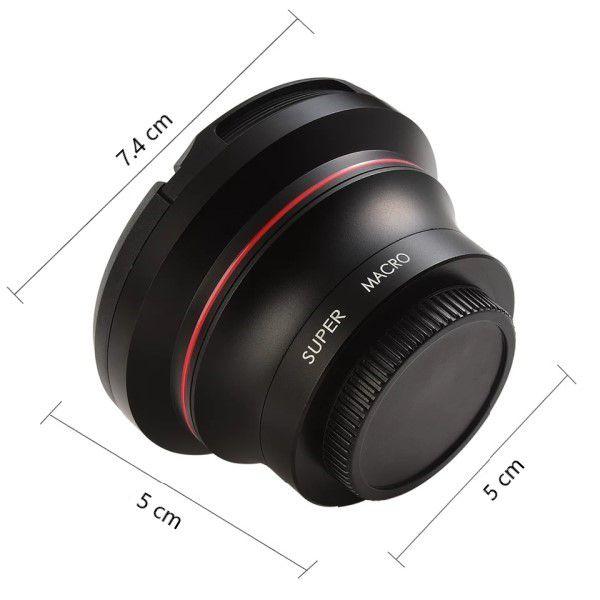 Lente 2 em 1 Ordro Capuz e Clip Full-HD Multifuncional Super Macro e Grande Angular 37mm/72mm/0.39x Filmadora Câmera Digital Smatphone (BTO)