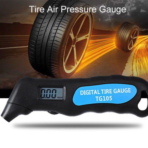 Medidor de Pressão dos Pneus Manômetro Digital Unidades Psi Bar Kpa Kg/cm2 Leve Portátil e Resistente