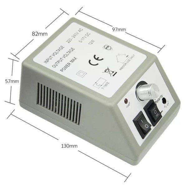 Kit Manicure Pedicure Profissional Micro Ferramenta Elétrica Bivolt AC 110 a 240V 20.000 RPM Lixa de Unha Multifuncional Brocas e Acessórios