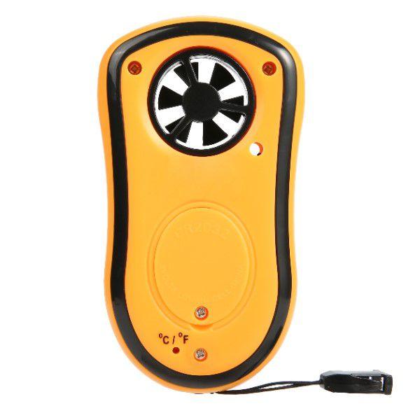 Mini Anemômetro Digital Portátil Multifuncional Medidor de Velocidade do Vento e Temperatura do Ar (BTO)